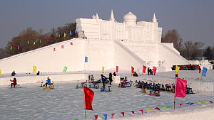 Ice sculptures at the Harbin Ice and Snow Festival, Heilongjiang Province, ChinaFebruary 2015. (This image may be licensed either as rights managed or royalty free.) - Gavin Hellier