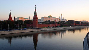 View of the Kremlin over the Moskva River, seen from the Bolshoy Kamenny Bridge , Moscow, Russia, May 2016. Hellier  -  Gavin Hellier