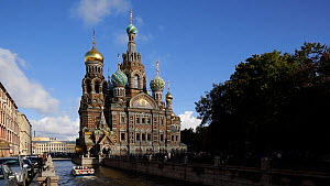 View of the Church of the Saviour on Spilled Blood, Saint Petersburg, Russia, May 2016. Hellier  -  Gavin Hellier