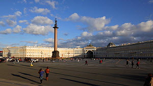 View of the Winter Palace, Palace Square, Alexander Column and the Hermitage, Saint Petersburg, Russia, May 2016. Hellier  -  Gavin Hellier