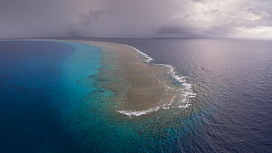 Aerial view of North Minerva Reef also known as Teleki Tokelau, a disputed territory in the South Pacific between Tonga and Fiji. - Richard Robinson