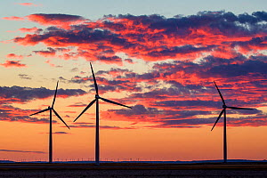 Windmills at sunset, Spain - Klein & Hubert