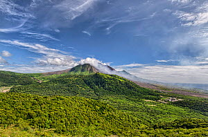 View of the active volcano that destroyed towns. Montserrat, Eastern Caribbean. March 2015. Digital stitched panorama. - Derek Galon