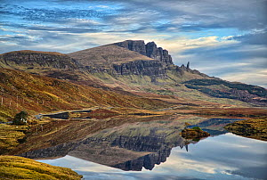 View from Portree road at Old Man of Storr on a frosty autumn morning. Skye, Scotland. October 2012 - Derek Galon