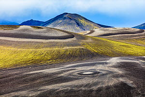 Landscape in Fjallabak Nature Reserve, with circular patterns on the ground, Iceland, September 2017. Highly commended in the Landscape category of the GDT European Wildlife Photographer of the Year A... - Theo  Bosboom