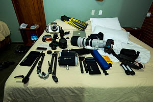 Camera gears and underwater housing and accessories to be use in this expedition, Bonito, Mato Grosso do Sul, Brazil  -  Franco  Banfi
