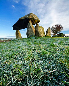Pentre Ifan, a Neolithic burial chamber, Nevern, Pembrokeshire, Wales, UK. November 2008  -  Guy Edwardes