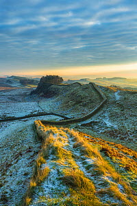 Landscape around Hadrian's Wall in winter, Northumberland, England, UK, December 2012 - Guy Edwardes