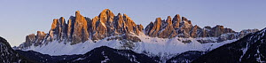 Odle range, Val di Funes, South Tyrol, Dolomites, Italy. March 2016 - Guy Edwardes
