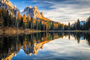 Lago d'Antorno and Cadini, Dolomites, Italy, October 2017. - Guy Edwardes