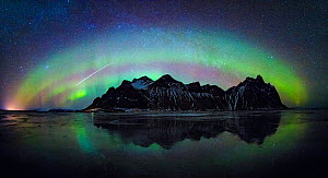 Aurora Borealis over Vestrahorn, Stokksnes, Hofn, Iceland. March 2018 - Guy Edwardes