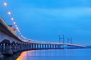 Second Severn Crossing, road bridge over River Severn between England and Monmouthshire in Wales, Gloucestershire, England. June 2006  -  Guy Edwardes