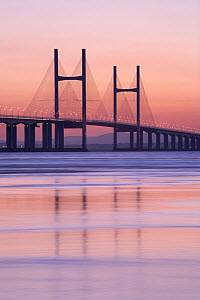 Second Severn Crossing, road bridge over River Severn between England and Monmouthshire in Wales, Gloucestershire, England. September 2006  -  Guy Edwardes