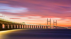Second Severn Crossing, road bridge over River Severn between England and Monmouthshire in Wales, Gloucestershire, England, UK, September 2006.  -  Guy Edwardes