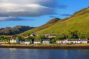 The village Dornie on the shore of Loch Duich, Ross and Cromarty, Western Highlands of Scotland, UK, June 2017  -  Philippe Clement