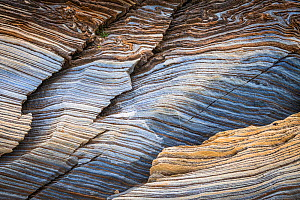 RF - Close-up of marble bedrock., Fjell, Norway, July 2018. (This image may be licensed either as rights managed or royalty free.)  -  Erlend Haarberg