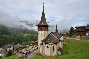 Church in Ayer village, Valais,Switzerland,September  -  Loic Poidevin