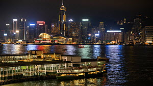 Timelapse of Kowloon Star ferry station, with passengers boarding and ferry leaving, Hong Kong, China, 2016. - Jurgen Freund