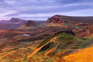 The Quiraing in morning light, eastern face of Meall na Suiramach, the northernmost summit of the Trotternish on the Isle of Skye, Scotland, UK. November 2017. - Ross Hoddinott