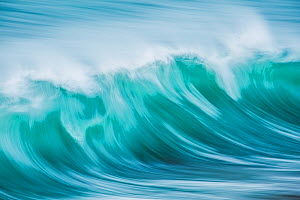 Wave in sea off Isle of Harris, Outer Hebrides, Scotland, UK. Long time exposure - Guy Edwardes