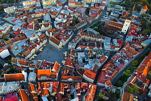 Tallinn old town, UNESCO World Heritage Site, in evening light. Harjumaa, Estonia. May 2011. - Sven  Zacek