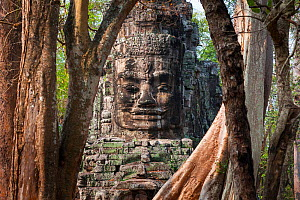 East Entrance or Victory Gate, Angkor, Siem Reap town, Siem Reap province. Cambodia. - Juan  Carlos Munoz