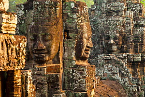 Face-towers on the Upper terrace of Bayon Temple. Angkor. Siem Reap town, Siem Reap province. Cambodia. - Juan  Carlos Munoz