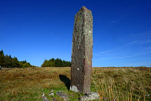 "Maen Madoc - an early Christian burial marker stone dating from the 5 or 6th Century AD, inscribed in Latin: DERVAC(IVS) FILIVS IVSTI (H)IC IACIT - ""Of Dervacus, Son of Justus. He lies here"". Brecon B... - Will Watson"