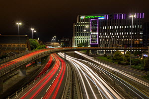Light trails from car lights, evening rush hour in Glasgow city centre. Scotland, UK. - SCOTLAND: The Big Picture