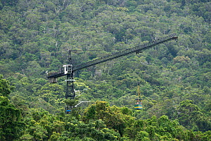 Daintree Rainforest Observatory Canopy Crane, used to carry personnel into the trees. Daintree Rainforest Observatory, Queensland, Australia February 2015 - Jurgen Freund