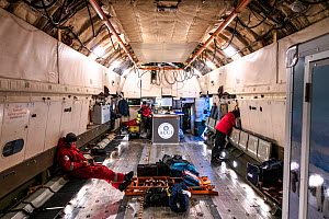 Interior of Antarctic Logistics Centre International aeroplane at Novolazarevskaya Station, Atka Bay, Queen Maud Land, Antarctica. November 2017. - Stefan Christmann