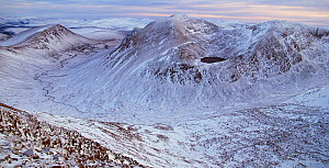 Lairig Ghru with Lochan uaine and Carin Toul from Braeriach, Cairngorms National Park, Scotland  -  SCOTLAND: The Big Picture