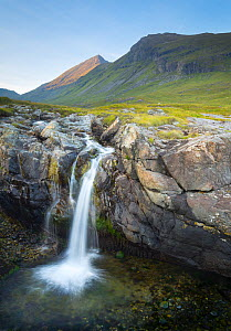 Waterfall by Dibidil, Isle of Rum, Scotland.  -  SCOTLAND: The Big Picture