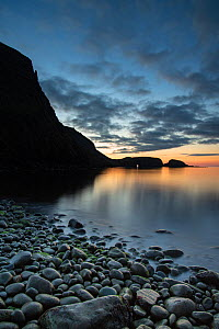 Sunset over Garbh Eilean, Shiant Isles, Outer Hebrides, Scotland, UK. July, 2018.  -  SCOTLAND: The Big Picture