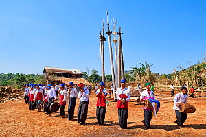 The Kay Htein Bo or spirit poles are found in most Kayan villages.These sacred poles are worshipped once a year, in April. Only men are allowed to enter this sacred place to play music and dance. Unde...  -  Eric Baccega