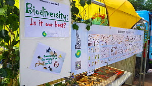Sign promoting biodiversity at Bristol Festival of Nature, Bristol, UK, June 2019.  -  Tom Walmsley (new)
