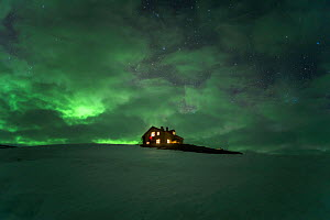 Kviar Tourist Lodge with Aurora, Hornstrandir Nature Reserve, Iceland. May 2018 - Terry  Whittaker