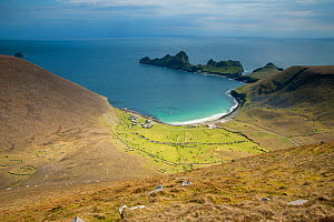Village Bay on St Kilda and the old houses that formed the village, Scotland, UK, May.  -  SCOTLAND: The Big Picture