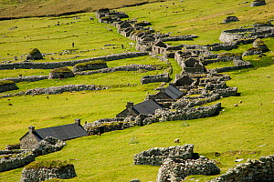 Village Bay on St Kilda and the old abandoned houses that formed the village, St Kilda, Scotland, UK, May. - SCOTLAND: The Big Picture