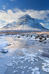 Buacaille Etive Mor and River Etive in winter, Rannoch Moor, Glencoe, Scotland, UK.December  -  SCOTLAND: The Big Picture