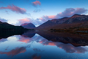 Liathach and Beinn Eighe reflected in Loch Clair at dawn, Torridon, Scotland, UK. November 2014. - SCOTLAND: The Big Picture