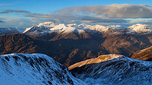 Ben Nevis and The Mamores in winter, Lochaber, Scotland, UK, February. - SCOTLAND: The Big Picture