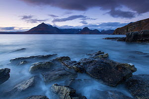RF - Loch Scavaig and Cuillin Mountains at dusk, Isle of Skye, Scotland, UK.October (This image may be licensed either as rights managed or royalty free.) - SCOTLAND: The Big Picture