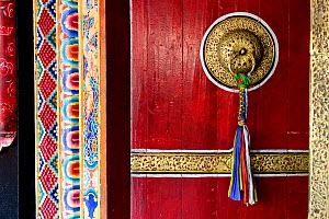 Old door of Rumtek, a Kagyu monastery near Gangtok in Sikkim. It is the largest monastery in Sikkim. India, October 2018.  -  Enrique Lopez-Tapia