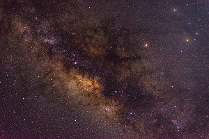 Milkyway over the Peruvian Andes. Peru. September  -  Oscar Dewhurst