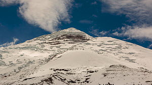 Timelapse of climbers making their way up to the summit of Cotopaxi Volcano (5897m) after a heavy snowfall, Cotopaxi, Ecuador, December 2018. (non-ex) - Morley Read