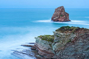 Twin Rocks of Hendaye. Pyrenees Atlantiques, Nouvelle-Aquitaine, France. December 2014.  -  Juan  Carlos Munoz