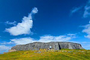 Dun Aonghasa / Fort of Aongus hill fort. Inishmore, Aran Islands, County Galway, Ireland. May 2011.  -  Juan  Carlos Munoz