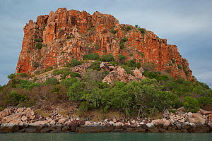 Prominent rock formation on Raft Point, Doubtful Bay, The Kimberley, Western Australia. 2015.  -  Rick Price