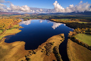 Loch Insh in the Cairngorms National Park, Scotland, UK, October 2017.  -  SCOTLAND: The Big Picture